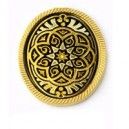 Damascene Elegant Brooch Gold