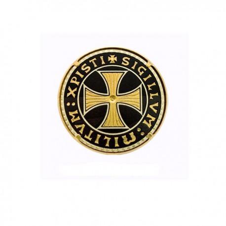Damascene Templar Brooch Gold