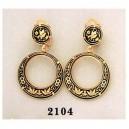 Damascene Gold Earrings Midas 2104