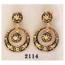 Damascene Gold Earrings Midas 2114