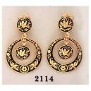 Damascene Gold Earrings Midas 2114