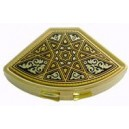 Adorned Fan Damascene Pill Box