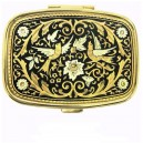 Songbirds Rectangle Damascene Pill Box