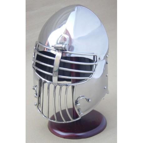 GDFB AB0427 14 Gauge Klappvisier Bascinet Helmet