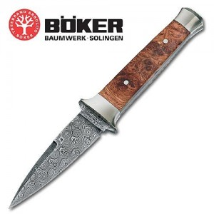 Boker Solingen Leopard Damascus Boot Knife