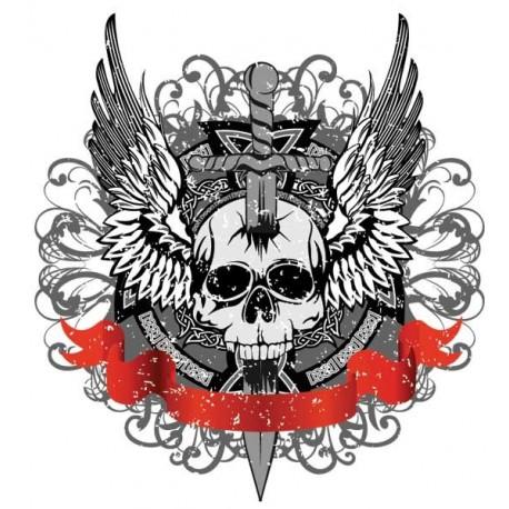 Pirate T-Shirt Winged Skull