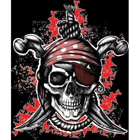 Pirate T-Shirt Hanged Man Black