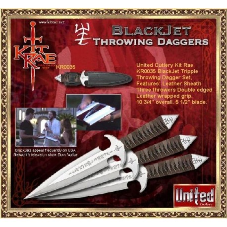 BlackJet Throwing Daggers by Kit Rae