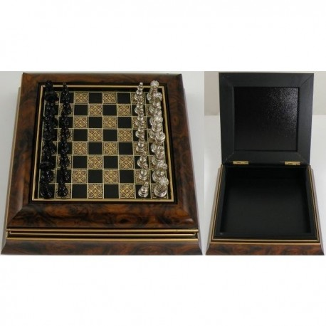 Medieval Wooden Chess Set
