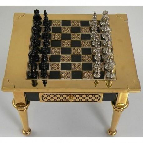 Medieval Gold Chess Set Light