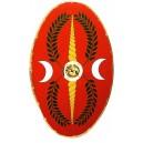 Roman Oval Shield Red