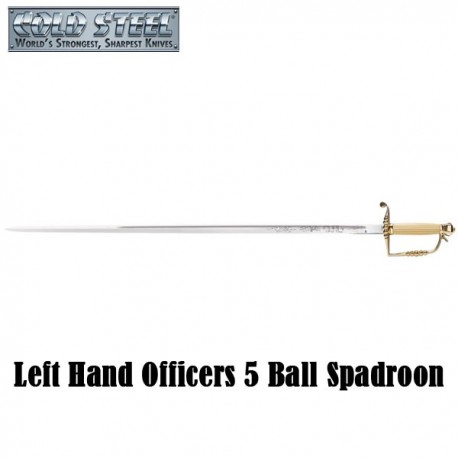 Left Hand Officers 5 Ball Spadroon