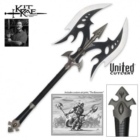 Kit Rae Black Legion Battle Axe with Black Blade KR0022B