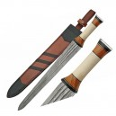 Damascus Sword Bone Handle