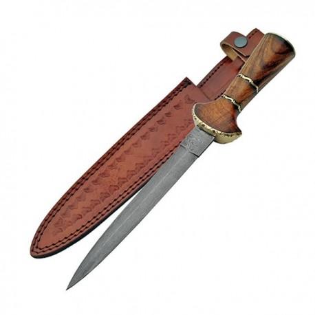 Damascus Baselard Dagger