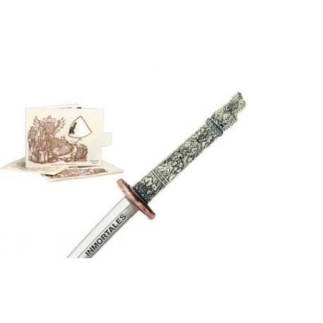 Miniature Highlander Dragon Samurai Katana Sword (Bronze)