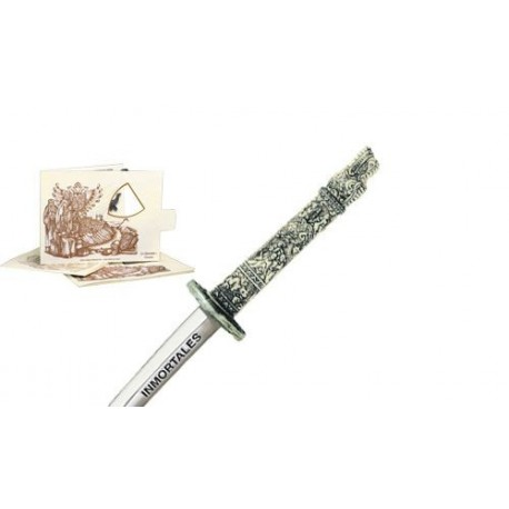 Miniature Highlander Dragon Samurai Katana Sword (Silver)