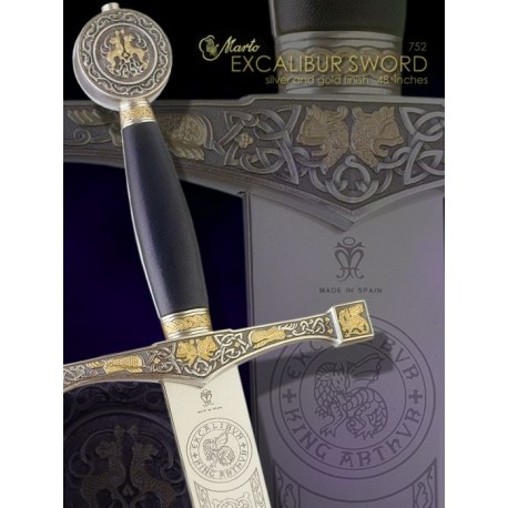 Excalibur Fantasy Sword Gold and Silver