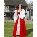 Fair Maiden's Dress Red-Medieval dresses