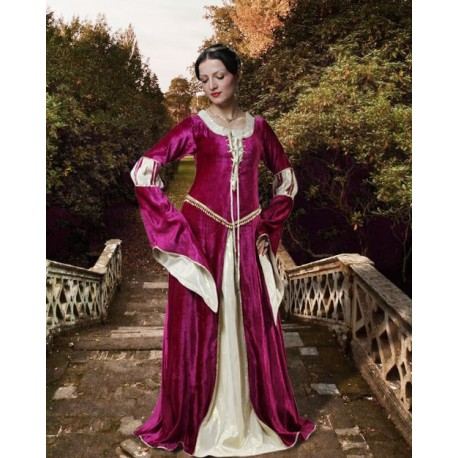 Medieval Lace-Up Gown-Medieval dresses