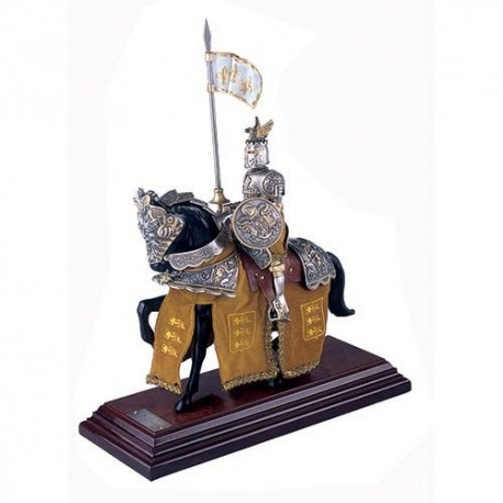 Mounted French Knight of King Richard the Lionheart in Suit of Armor