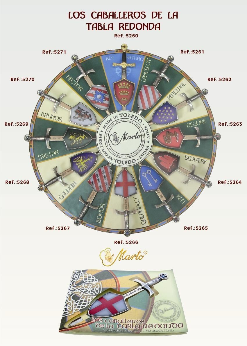 Knights Of The Round Table Sword Names.Swords And Shields Of Knights Of The Round Table