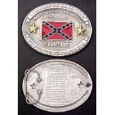 Civil War Confederate History Belt Buckle