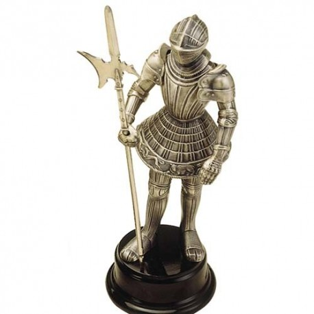 Miniature Medieval Knight Suit of Armor with Halberd
