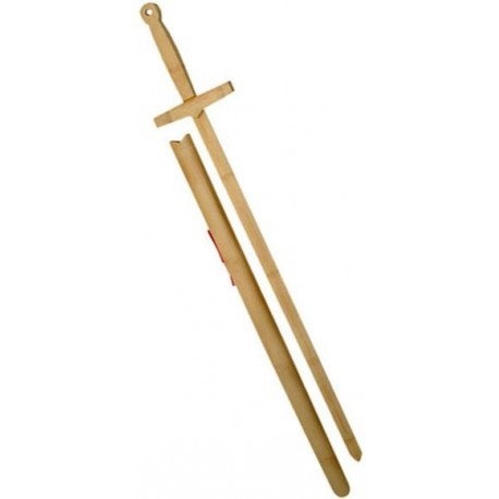 Excalibur Wooden Practice Sword with Scabbard