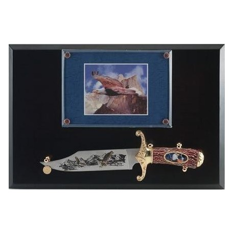 Eagle Bowie Knife on Display Plaque