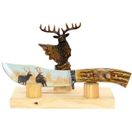 Deer Collector Stag Hunting Knife