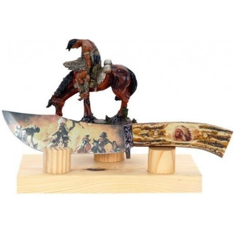 Indian Hunter Collector Stag Hunting Knife