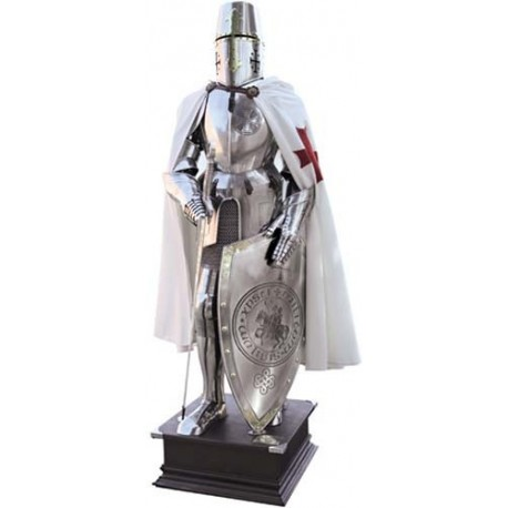 Templar Knight Suit of Armor with a Templar Seal