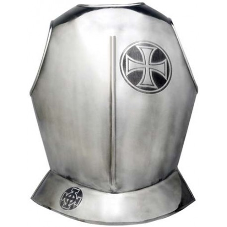 Templar Knight Armor Breastplate with Templar Cross