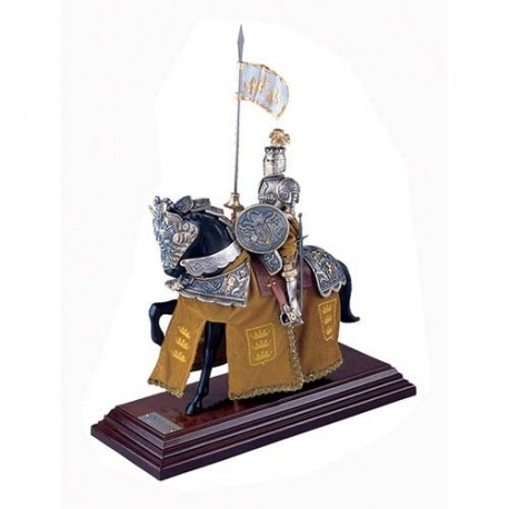 Mounted French Knight of King Arthur in Suit of Armor