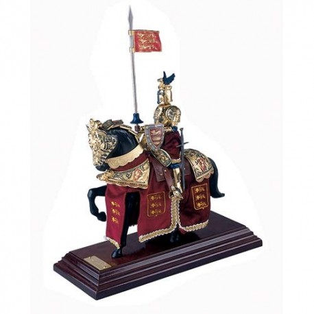 Mounted English Knight of King Richard the Lionheart in Suit of Armor