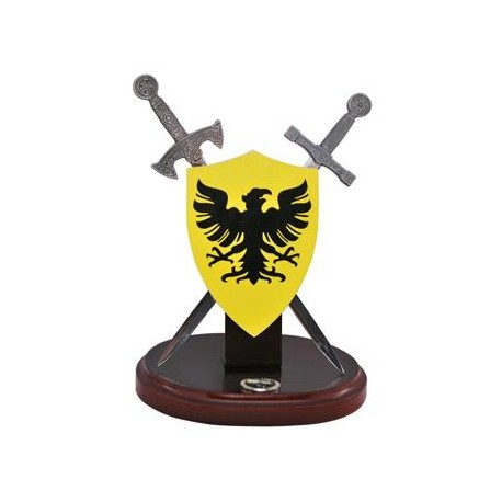 Miniature German Shield and Swords