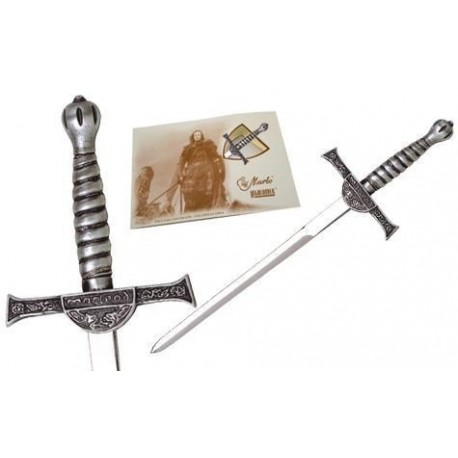 Miniature Connor MacLeod Highlander Sword Silver