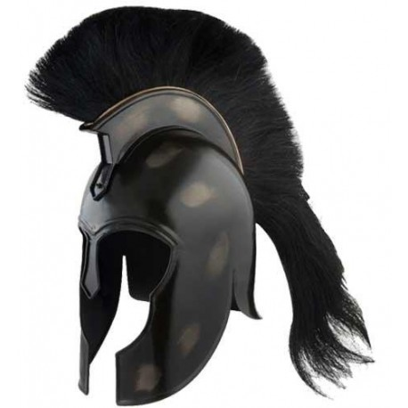 Black Trojan Helmet from Ancient Greece