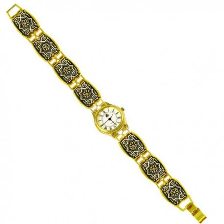 Damascene Gold Watch Midas Toledo 3503