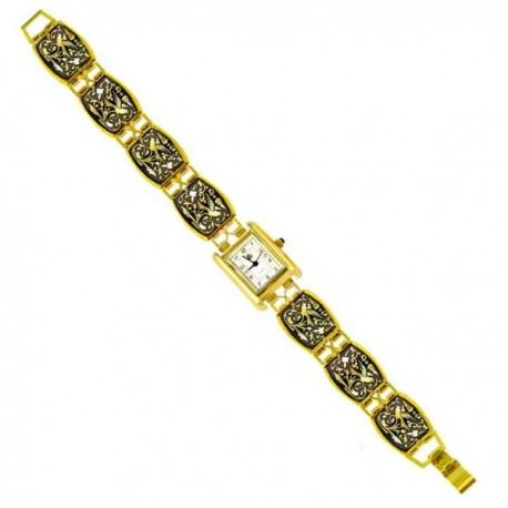 Damascene Gold Watch Midas Toledo 3502