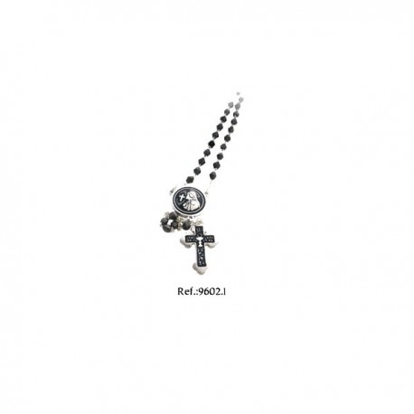 Damascene Silver Rosary by Midas Model 9602-1
