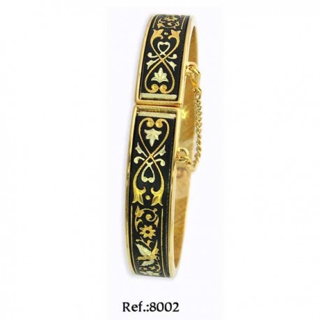 Damascene Bracelet 24k Gold Model 8002