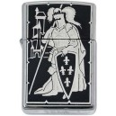 Damascene Zippo Lighter (French Knight)