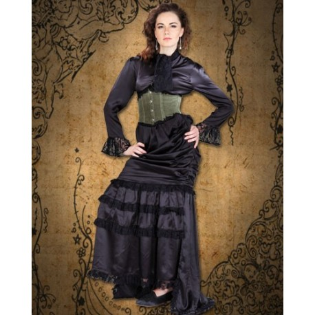 Satin Pegged Steampunk Skirt