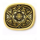 Damascene Eternal Blossom Brooch Gold