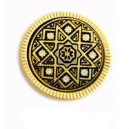 Damascene Twinkling Brooch Gold