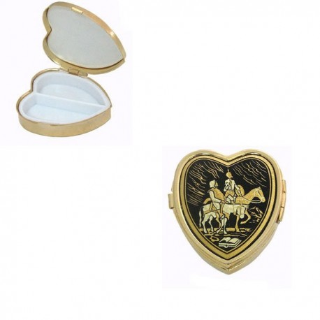 Damascene Don Quixote Heart Pill Box