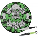 12 Zombie Throwing Knives With Target