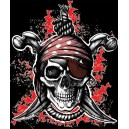 Pirate T-Shirt Hanged Man Black
